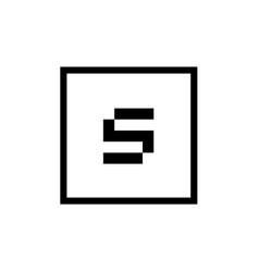 graphic element square letter s logo icon vector image