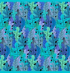 hand drawn floral pattern background vector image