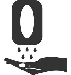 Hand sanitizer icon black silhouette vector