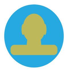 Icon profile design flat vector image