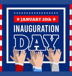 inauguration president united vector image