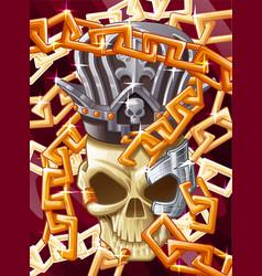 king skull vector image