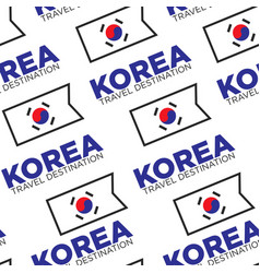 korea travel destination seamless pattern korean vector image