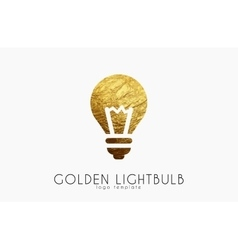 Lightbulb logo template Lightbulb icon Golden vector image