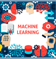 Machine learning paper template vector