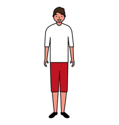 man standing character white background vector image