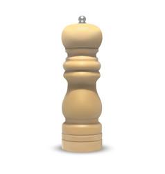 pepper wooden grinder 3d vector image