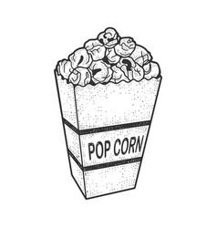 Pop corn sketch vector