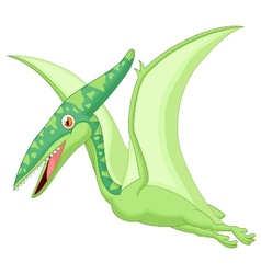 Pterosaurus cartoon vector image