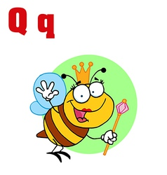 Queen bee with letter vector image