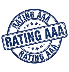 rating aaa stamp vector image