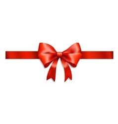 Red ribbon and bow isolated on white vector
