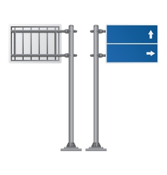 road Signs blue color vector image