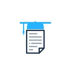 school document logo icon design vector image