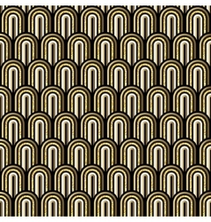Seamless gold white and black simple art deco wave vector
