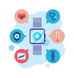 smartwatch app modern technology health vector image