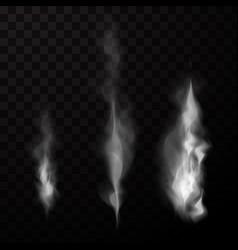 smoke isolated set vector image