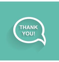 Speech bubbles thank you flat design vector