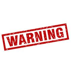 Square grunge red warning stamp vector