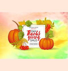thanksgiving day sale design hand drawing vector image