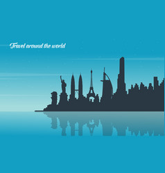 Theme travel flat vector