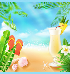 Tropical Sea Background vector