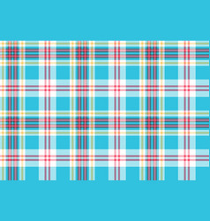 turquoise plaid check fabric seamless pattern vector image