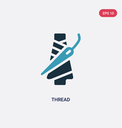Two color thread icon from sew concept isolated vector