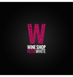 Wine logo deign background vector