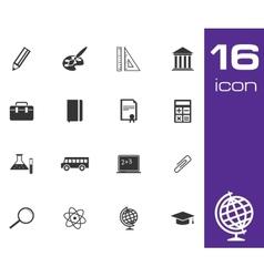 black education icon set on white background vector image vector image