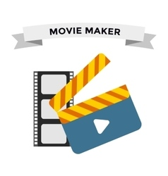 Cinema film clapper board vector image vector image