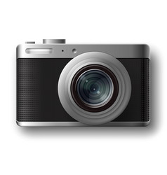 compact photo camera vector image