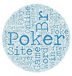 online poker site 1 text background wordcloud vector image vector image