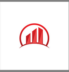 building business chart logo vector image