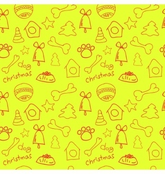 Fun christmas seamless lemon yellow pattern vector image vector image
