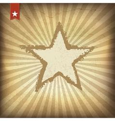 Grunge burst background with star vector