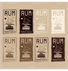 rum vintage labels set vector image