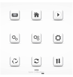 Web icon collection vector image vector image