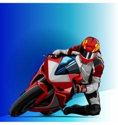 bike racing vector image vector image