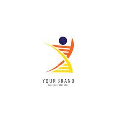 healthcare symbol logo vector image