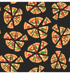 seamless texture of pattern with margherita pizza vector image