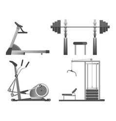 training apparatus with heavy blocks modern vector image vector image