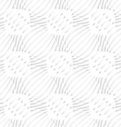 White simple wavy with small details seamless vector image