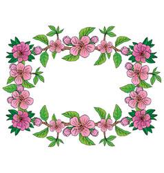 apple flower frame vector image vector image