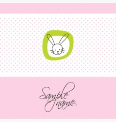 cute card with bunny vector image vector image