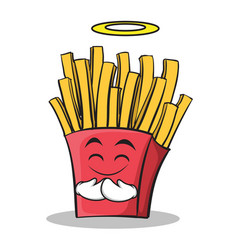 Innocent face french fries cartoon character vector