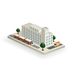 isometric transport vector image
