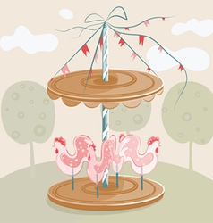 sweet cock carousel vector image vector image