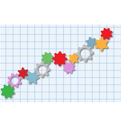 Technology gears tech business graph vector image vector image