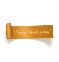 Thanksgiving yellow Ribbon on white Background vector image